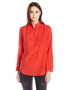 Levis Womens Val Blouse Flame Scarlet Small ** More info could be found at the affiliate link Amazon.com on image.
