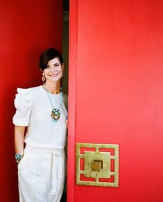 Door handle. (and BEAUTIFUL mrs benson and her Irene jewels)