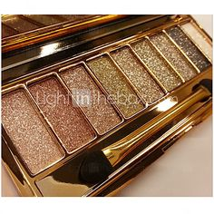 9 Color Shimmer Eye Shadow No.1-6(Assorted Colors) - USD $ 6.99