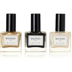 Balmain Paris Hair Couture Nail Couture Gift Set - 1 (€82) ❤ liked on Polyvore featuring beauty products, makeup, beauty, nail polish, nails and fillers