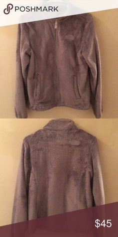 The North Face Fleece Jacket Good used condition Size small Relaxed fit Soft fleece Hardface stretch fabric at cuff Two secure-zip hand pockets Hem cinch draw cord North Face Jackets & Coats