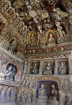 Las grutas budistas de Yungang, China   雲崗石窟