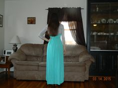Light blue maxi dress from Target Silver jacket from Plato's closet spring 2015