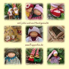 Stoffpuppen (angelehnt an Waldorfpuppen) der Puppenfee