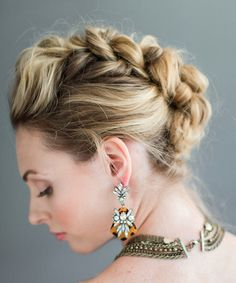 Recreate the Braided Faux Hawk with the Tutorial - Pinterest Braids: Celeb-Inspired Hairstyles You Need to Try - Photos