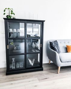 2 IKEA Malsjö in black next to the fireplace Ikea Living Room, Dining Room, Dream Apartment, Cottage Interiors, Conservatory, Decoration, Interior Inspiration, Whiskey, Home And Family