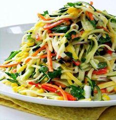 Asian Stir-Fry Salad Ingredients: Stir fry, soy sauce