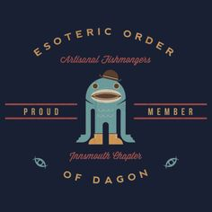 """""""Artisanal Fishmongers (Esoteric Order of Dagon)"""" T-Shirts & Hoodies by Devil Olive   Redbubble"""