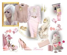 """""""pink zuhair murad"""" by lumi-21 ❤ liked on Polyvore"""