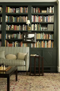 Pictures Hung On Bookshelves In A Library Design Ideas, Pictures, Remodel and Decor