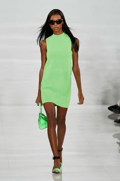 Pin for Later: The Ultimate Guide to Spring & Summer's Big Fashion Colour Trends It's Easy Being Green Ralph Lauren Spring 2014