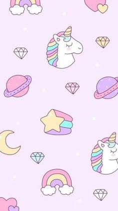 Check out this awesome collection of Kawaii Unicorn wallpapers, with 57 Kawaii Unicorn wallpaper pictures for your desktop, phone or tablet. Cartoon Wallpaper, Pink Unicorn Wallpaper, Unicornios Wallpaper, Unicorn Backgrounds, Cute Girl Wallpaper, Cute Wallpaper For Phone, Kawaii Wallpaper, Cute Wallpaper Backgrounds, Trendy Wallpaper