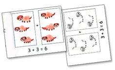 Thumbprint Dinosaurs Guided Draing Addition Doubles Song & Singable Book Project