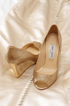 5a843b1e7309 Amy and Pat s Traditional Florida Wedding by Tonya Malay Photography · Gold  Wedding ShoesWedge ...