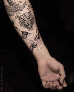 Em Morris on Instagr Dope Tattoos, Mini Tattoos, Unique Tattoos, Body Art Tattoos, New Tattoos, Small Tattoos, Tattoos For Guys, Arm Tattoo, Tiger Tattoo
