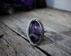 Rock Rings, Labradorite Ring, Opal Necklace, Chevron, Amethyst, Gemstone Rings, Gemstones, Sterling Silver, Unique Jewelry
