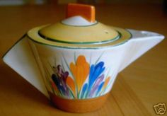 Clarice Cliff teapot by Andy Titcomb, via Flickr
