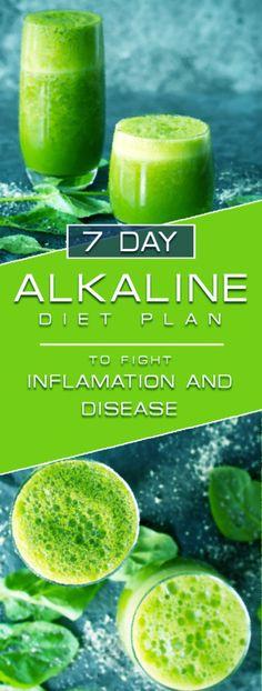 7 Day Alkaline Diet Plan to Fight Inflammation and Disease ! PH levels show the . Diät , 7 Day Alkaline Diet Plan to Fight Inflammation and Disease ! PH levels show the . 7 Day Alkaline Diet Plan to Fight Inflammation and Disease ! Alkaline Diet Plan, Alkaline Diet Recipes, Foods High In Alkaline, Motivation Yoga, Three Week Diet, Program Diet, Detox Kur, Diet Plans To Lose Weight, Cookies Et Biscuits