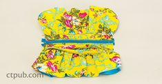Gathered Zipper Pouches Project - C&T Publishing Pouch Bag, Zipper Pouch, Sewing Patterns Free, Free Pattern, Diy Bags Jeans, Sewing Crafts, Sewing Projects, Sew Bags, Handmade Handbags