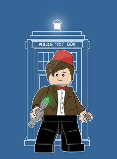 """The Doctor (Lego Doctor Who)"" (Art Print by Li.Ro.Vi)"