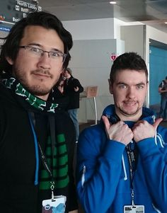 Markiplier and JackSepticEye!  Is Mark taller no offense or is this photoshopped