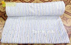 Indian kantha Patchwork Kantha Quilt  Hand Block Print kantha Bedspread Gudri  #Handmade #ArtDecoStyle