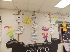 such a cute way to display 7 habits!