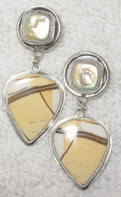 Chelle' Rawlsky one of a kind pearl, breciated mook jasper in sterling silver Divas Delights at dot net