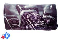 Jack Daniel Printing Tobacco Case Rolling Cigar Pouch Wallet PU Leather Cigar