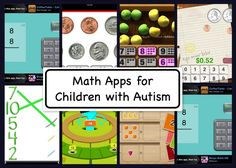 Best Math Apps for Children with Autism from The Autism Helper. A good collection of visual maths apps, many free. (US coins though!).