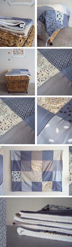 Plaid Polaire et Patchwork >> Little Fabrics