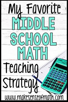 Learn all about a favorite strategy for mathematics teaching in the middle school. How can you take your middle school math students to the next-level? I take a deep dive into instructional strategies for middle school math that will work for any 6th grade math teacher, 7th grade math teacher, or 8th grade math teacher. Click here to read more about math strategies for middle school. #makesenseofmath Math Teacher, Math Classroom, Teaching Math, Algebra Activities, Math Resources, Math Strategies, Instructional Strategies, Seventh Grade Math, Middle School