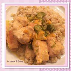 Poulet sauce aux  poivrons et à la crème WW  - La cuisine de Boomy