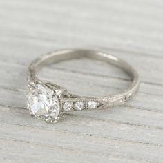 .96 Carat Vintage Art Deco Engagement Ring   Erstwhile Jewelry Co.
