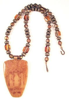 Butterscotch Medieval Graces Necklace 2 by DivaDesigns1, via Flickr