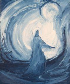 """Macha Chmakoff NOUVEAU TESTAMENT et Saints  - Jésus marche sur les eaux n°2 """"Ayez confiance, c'est moi, n'ayez pas peur"""" Marc 6,50"""