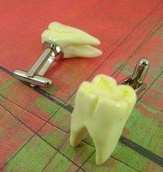 Do you ever wear tooth cufflinks on special occasions? Kids Dental Center | #Chandler | #AZ | www.kidsdentalcenter.com