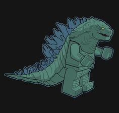 Minizilla T-Shirt $10 LEGO Godzilla tee at RIPT today only!