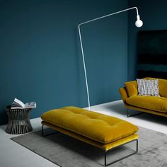 Mustard colour pouf foot rest by saba italia its cool designer style built by Italians at Our design furniture store Bench Furniture, New Furniture, Modern Furniture Design, Furniture Ideas, Living Room Sofa, Living Room Decor, Casa Milano, Pouf Footstool, Casa Loft