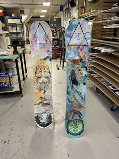 We made these two custom boards for Eliza Taylor and Nina Defilla.