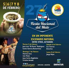 5 al 8 Febrero Parana - Fiesta Nacional del Mate 2016   Region Litoral