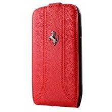 Ferrari Flipper Tasche Galaxy S4 - Rot Metall Logo  26,99 €