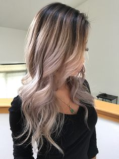 Blonde balayage on Asian hair More