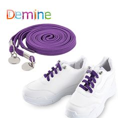 5d844aba3120 Demine No Tie Shoelaces Elastic One Handed Buckle Shoestrings Flat Laces  with Metal Tips Lazy Sneaker Shoe Laces Dropshipper