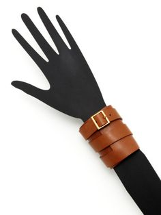 Wide Leather Cuff Bracelet.