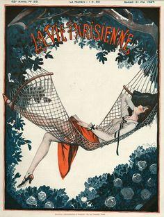 La Vie Parisienne, 1924 Art by Georges Pavis