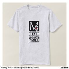"""Mickey Mouse Standing With """"M"""" T-shirt"""