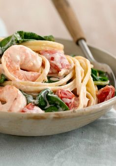 Shrimp-In-Love Pasta -- Our Shrimp-in-Love Pasta recipe is ridiculously delicious, requires just five ingredients and is ready to eat in only 20 minutes.
