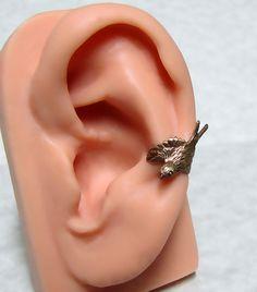 Steampunk Sparrow Ear cuff by ranaway on Etsy