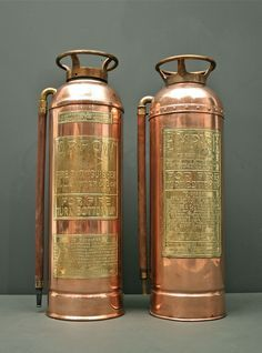 About Antique Cars Fire And Fire Extinguishers vintage fire extinguisher copper brass empire co elmira new york fire ...